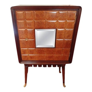 Italian Paolo Buffa Attributed Cabinet With a Mirrored Front For Sale
