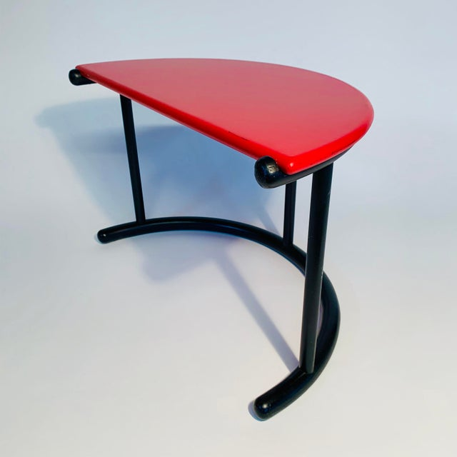 Gianfranco Frattini Demilune Side Table For Sale - Image 13 of 13
