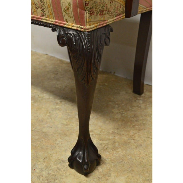 Solid Mahogany Chippendale Style Dining Chairs Ball & Claw Feet - Set of 6 For Sale - Image 4 of 11
