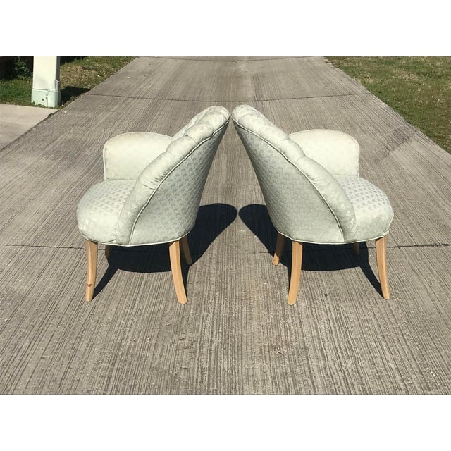 1920s 1920's Vintage Art Deco Shell Back Boudoir Chairs- A Pair For Sale - Image 5 of 9