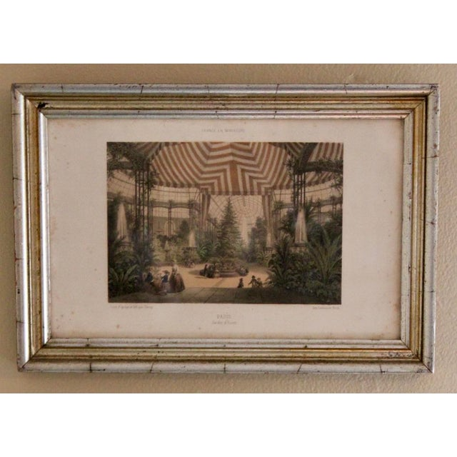 French Country Prints in Silver and Gold Bamboo Style Wooden Frames - a Pair For Sale - Image 4 of 10