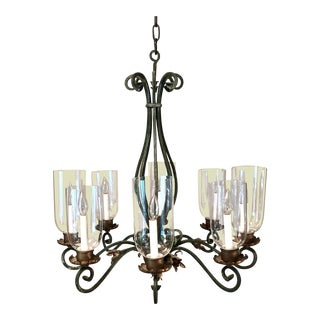 20th Century Italian Wrought Iron 8-Light Chandelier