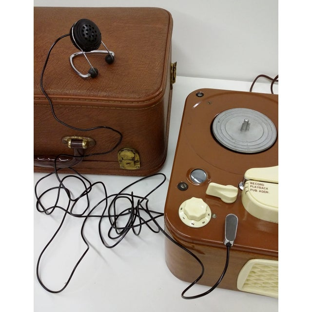 Vintage Collectible Tandberg Radiofabrikk Reel to Reel Tape Recorder For Sale - Image 9 of 10
