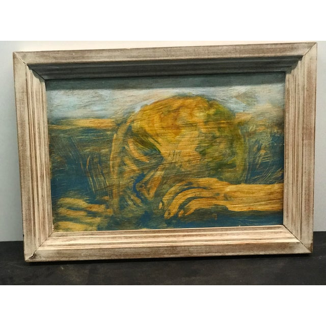 Figure in Grass Signed Oil on Board - Image 2 of 6