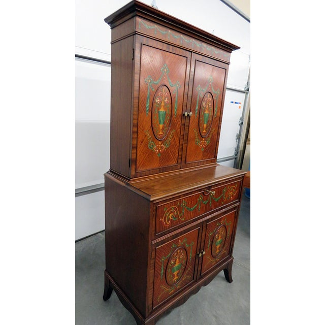 Early 20th Century Adams Style Secretary Desk For Sale - Image 5 of 7