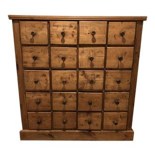 20th Century Country Pine Apothecary Chest For Sale