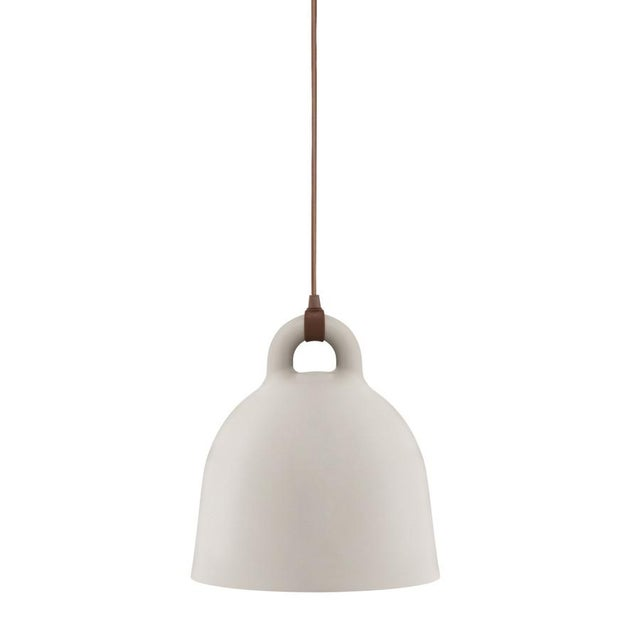 Scandinavian Tan Steel Bell Pendant Lamp - Image 1 of 2