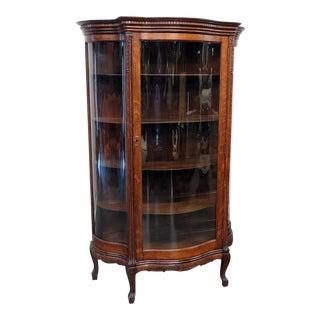 Renaissance Style Oak Vitrine For Sale