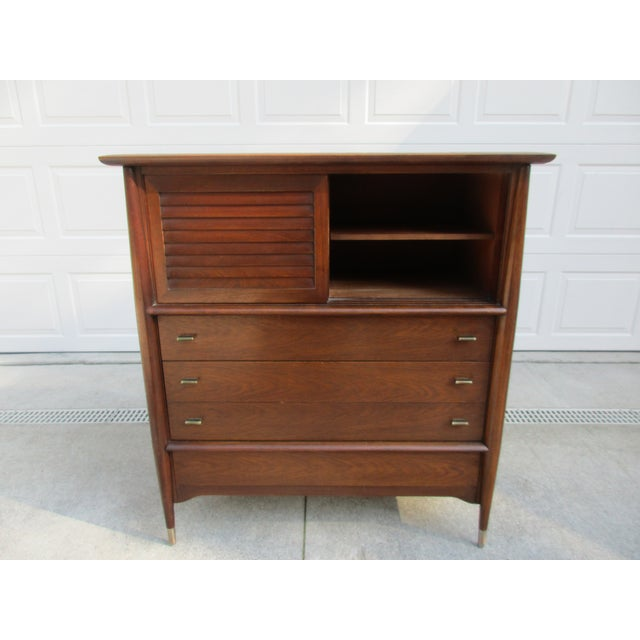 Brown Mid-Century Modern Rway Tall Chest of Drawers -Custom Made For Sale - Image 8 of 13