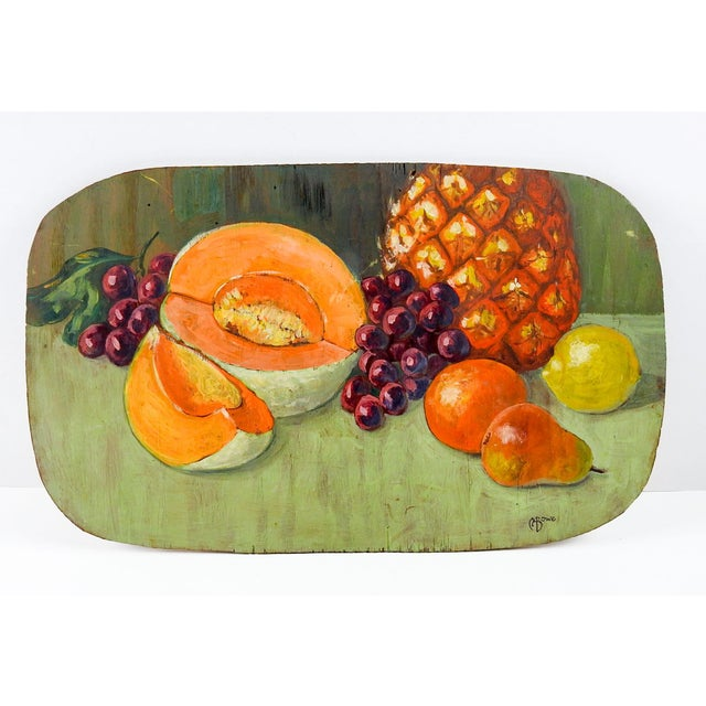 Contemporary Fruit Still Life Painting, 1960s For Sale - Image 3 of 3