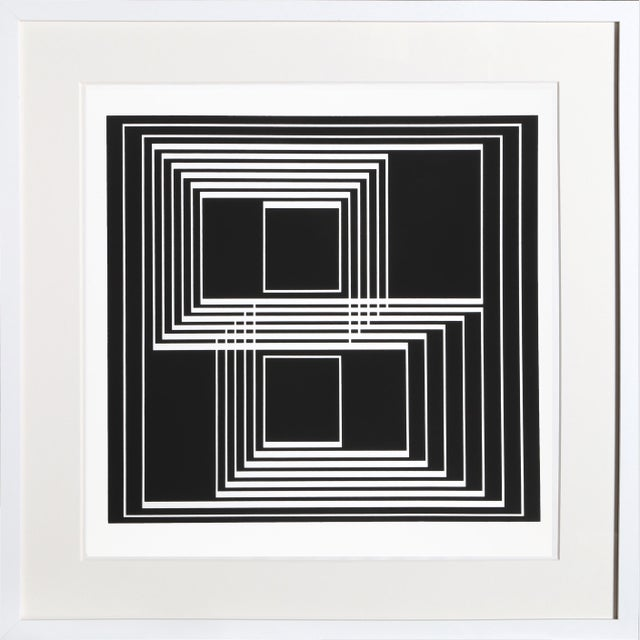 Josef Albers Josef Albers - Portfolio 1, Folder 33, Image 1 Framed Silkscreen For Sale - Image 4 of 4