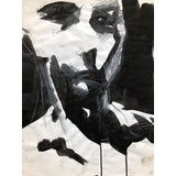 "Image of Contemporary Portrait Drawing in Charcoal, Ink, and Pastel, ""Fractured Self-Portrait"", by Artist David O. Smith For Sale"