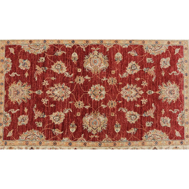 Wool Hand Knotted Pakistan Rug 4′4″x 6′4″ - Image 2 of 4