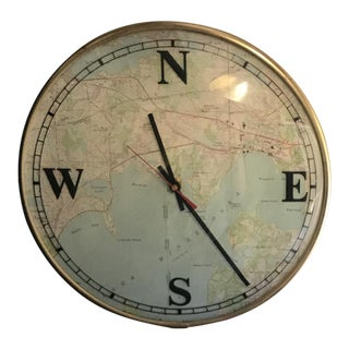 1970's Vintage Globe Wall Clock
