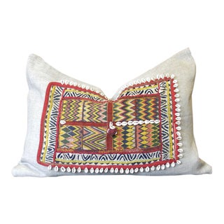 Jaamil Jumlo Shell Embellished Pillow For Sale