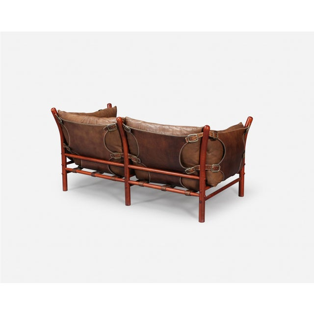 Mid-Century Modern Rare Arne Norell Ilona Sofa in Brown Leather, Sweden, 1960s For Sale - Image 3 of 5