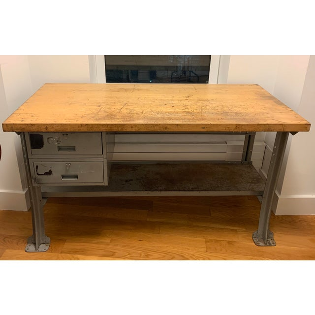 Industrial Lyon Aurora Ill Workbench For Sale - Image 10 of 10