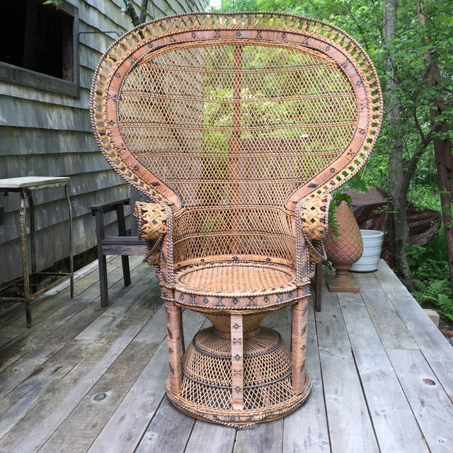 """This classic """"Emmanuelle"""" peacock chair, named after the Sylvia Kristel movies from the 1970s, is in very good structural..."""
