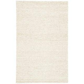 Jaipur Living Karlstadt Handmade Solid Taupe/ White Area Rug - 5′ × 8′ For Sale