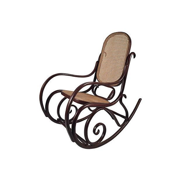 Thonet Attri. Caned Bentwood Rocking Chair - Image 1 of 7