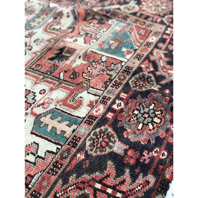 """1930's Vintage Persian Heriz Large Area Rug 9'2""""x10'7"""" For Sale - Image 11 of 13"""