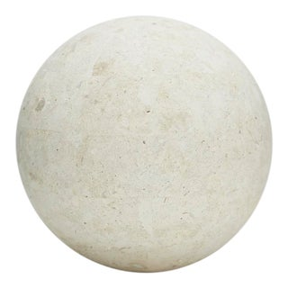 1990s Vintage Tessellated Matte Mactan Stone Sphere - 7.5 In. Diameter For Sale