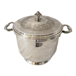 International Silver Glass Lined Ice Bucket