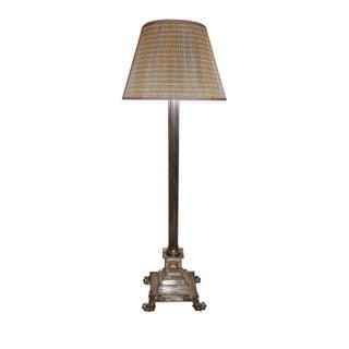 Corinthian Column Silver Standing Lamp For Sale