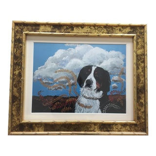 Contemporary Bernese Mountain Dog Print For Sale