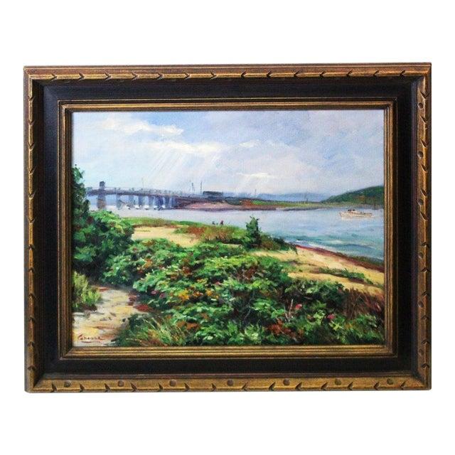 Caddell Martha's Vineyard Scene Painting For Sale