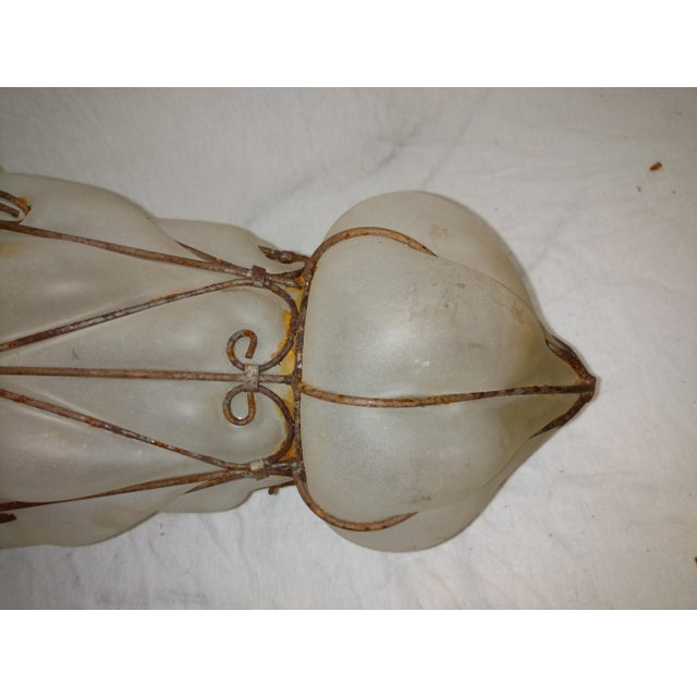 1960s Vintage Egyptian Blown Glass Lantern For Sale - Image 4 of 10