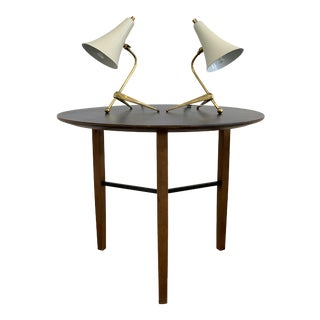 Italian Tripod Mid Century Modern Table Lamps - A Pair For Sale