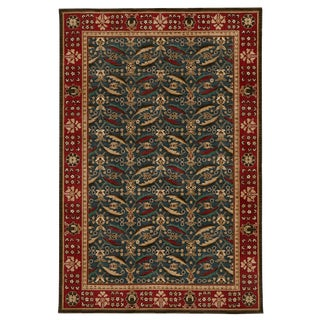 Schumacher Patterson Flynn Martin Kerman Hand-Tufted Wool Floral Rug - 6' X 9' For Sale