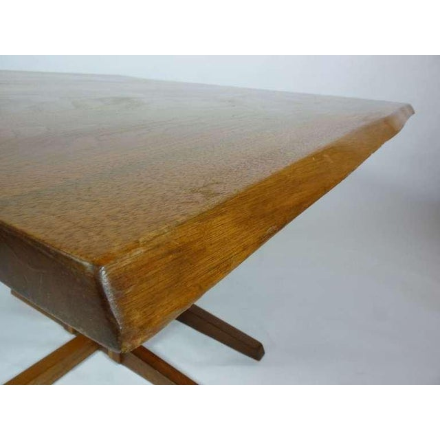 Brown George Nakashima Frenchman's Cove Dining Table For Sale - Image 8 of 9
