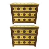 Image of 1970s Vintage Hollywood Regency Style Nightstands-a Pair For Sale