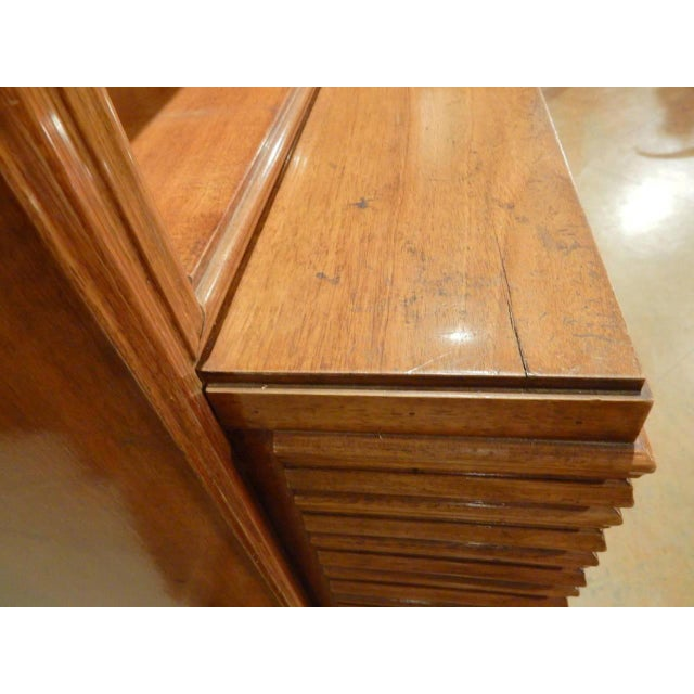 1960s Italian Mid-Century Modern Walnut Bookcase Cabinet by Paolo Buffa For Sale - Image 5 of 11