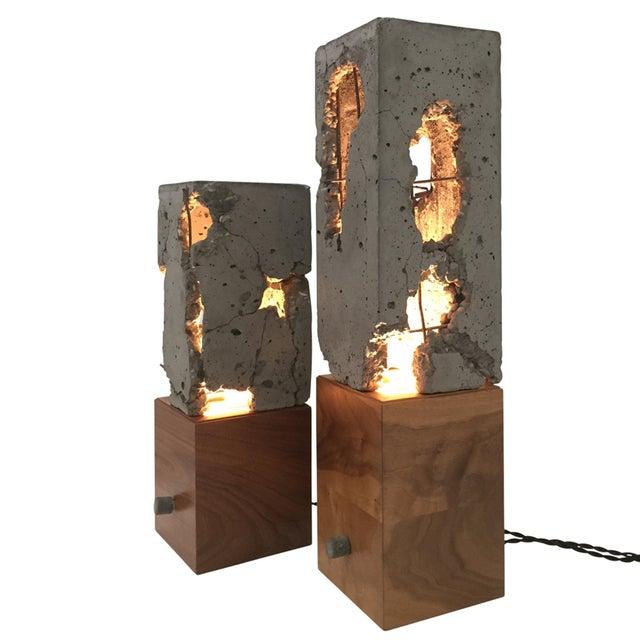 Stefan Rurak Walnut Wood Tabletop Scarpa Light For Sale - Image 4 of 9