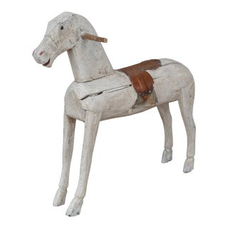 19th Century Carved and Painted Folk Art Swedish Toy Horse For Sale