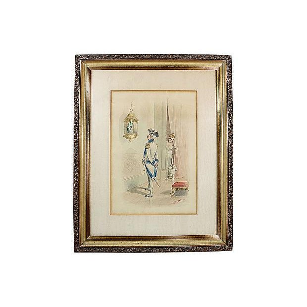 French Soldier Lithograph Print - Image 1 of 2