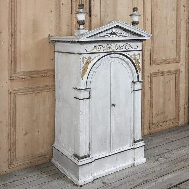 19th Century French Neoclassical Painted Tabernacle For Sale - Image 4 of 13