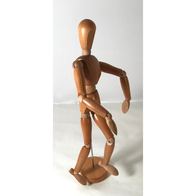 Brown 20th Century Figurative Artist Model of Articulating Man For Sale - Image 8 of 11
