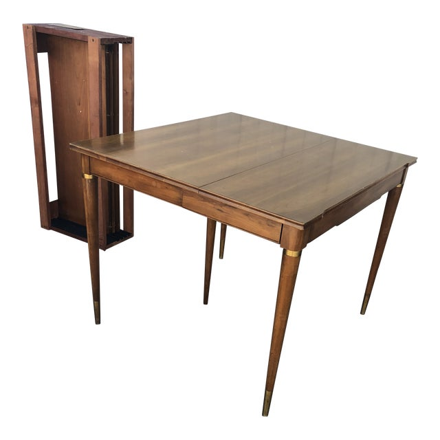Mid Century Modern Brown Saltman Dining Table For Sale