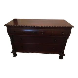 Antique Traditional Carved Chest For Sale