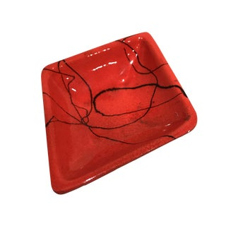 Red Diamond Catchall Dish For Sale