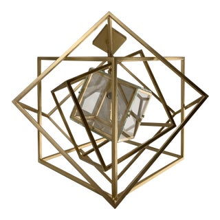 Visual Comfort Kw5021 Cubist Chandelier in Gilt Finish For Sale