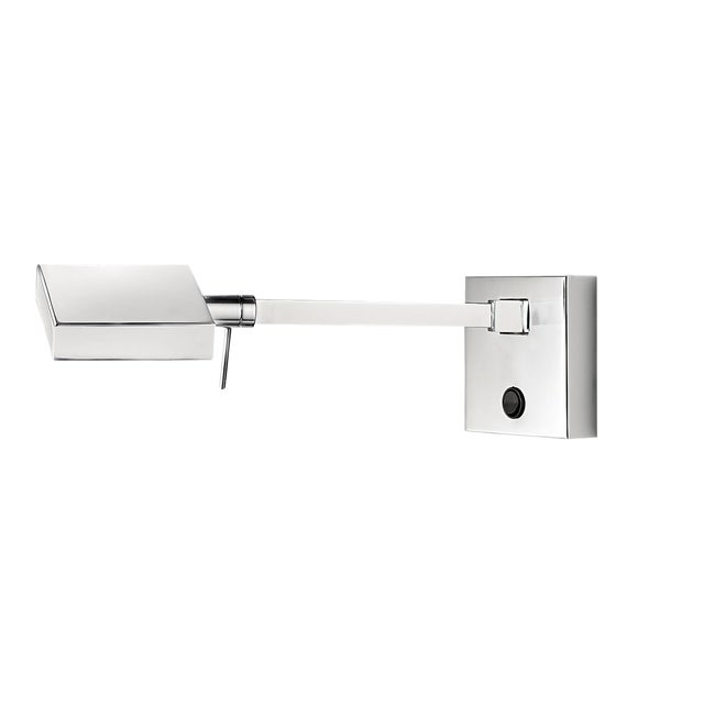 Contemporary Polished Chrome Wall Light For Sale