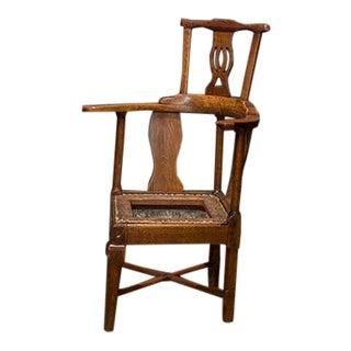 English Walnut Corner Chair For Sale