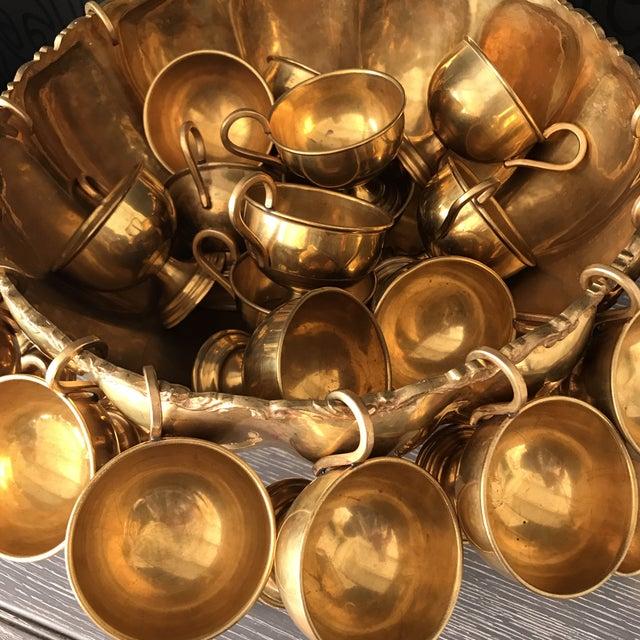 Brass Punchbowl Set - 26 Piece - Image 5 of 11
