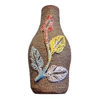 Fratelli Fanciullacci 'Vine & Leaf' Relief Decor Vase For Sale