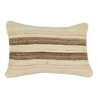 Pillow Cases Made Out of an Anatolian Turkish Mid-20th Century Kilim, Wool Vintage Ethnic Kilim Pillow Cover 16'' X 48'' (40 X 120 Cm) For Sale
